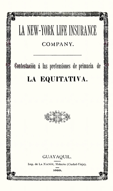 La New-York life insurance company (Folleto).