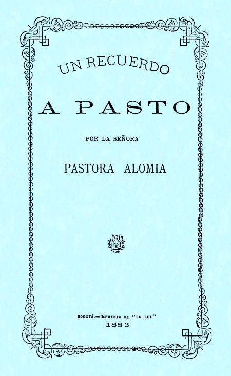 Un recuerdo a Pasto (Folleto).