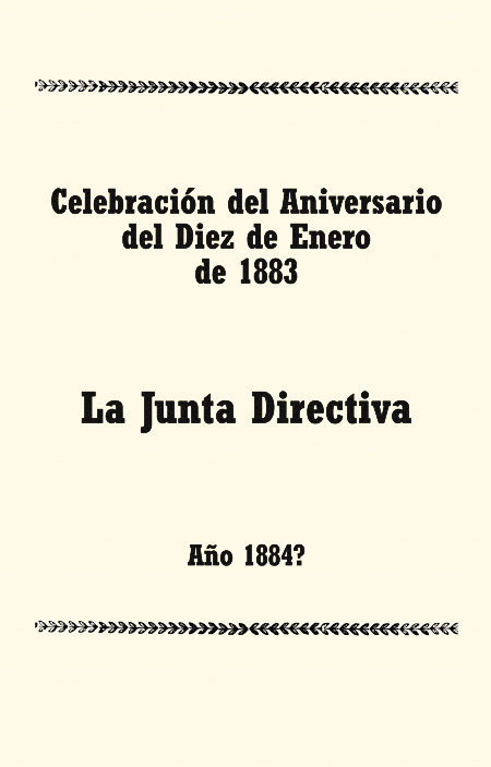 Celebración del Aniversario del Diez de Enero de 1883.