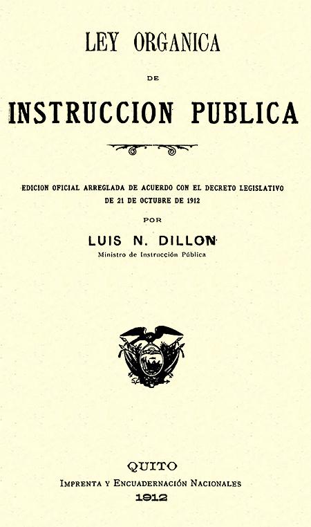 Ley orgánica de instrucción pública : edición oficial arreglada de acuerdo con el decreto legislativo de 21 de octubre de 1912.