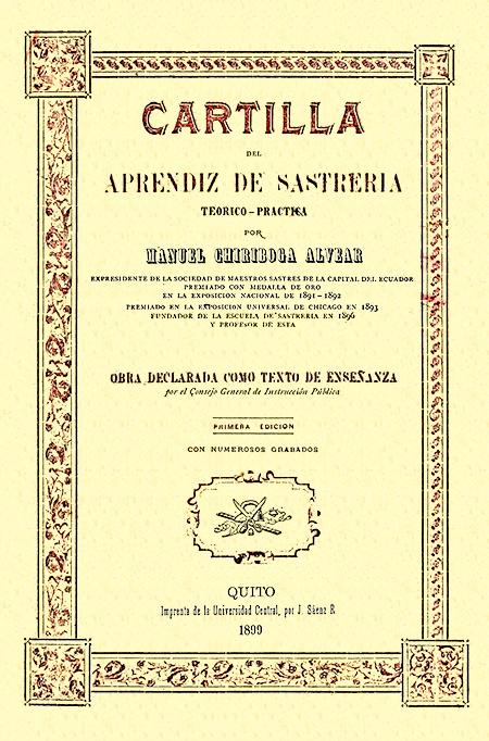 Cartilla del aprendiz de Sastrería : teórico-práctica.