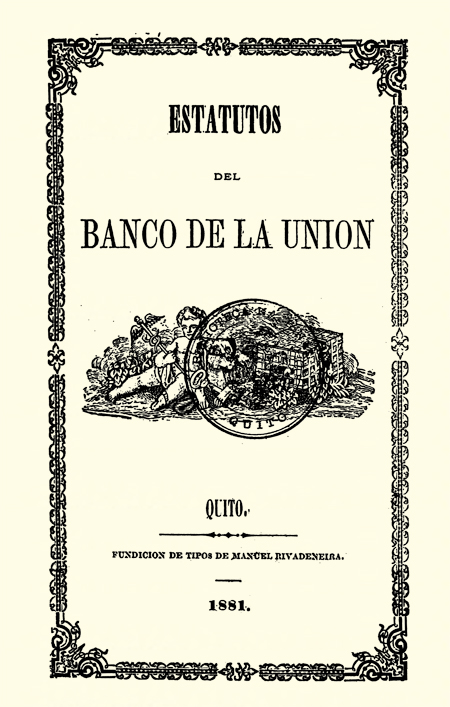 Estatutos del Banco de la Unión (Folleto).