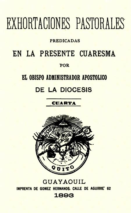 Exhortaciones pastorales predicadas en la presente cuaresma por el Obispo administrador apostólico de la diócesis : cuarta (Folleto).