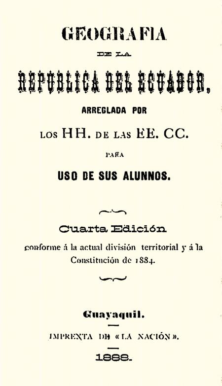 Geografía de la República del Ecuador arreglada por HH. de las EE. CC. para el uso de sus alumnos (Folleto).