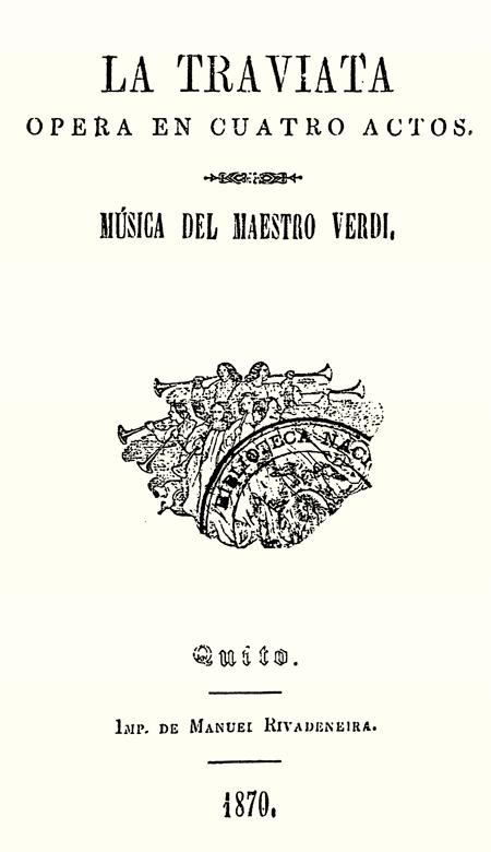 La traviata : Ópera en cuatro actos. Música del maestro Verdi (Folleto).