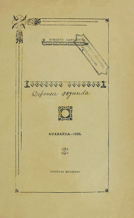 Defensa Segunda (Folleto).