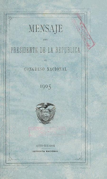 Mensaje del Presidente de la República al Congreso Nacional de 1905