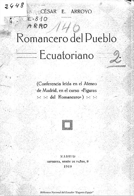 Romancero del Pueblo Ecuatoriano