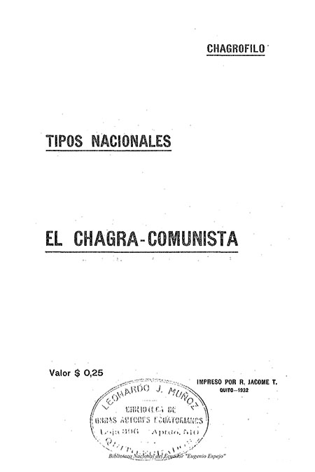 El Chagra - Comunista : Tipos nacionales