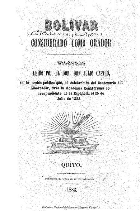 Bolívar considerado como Orador