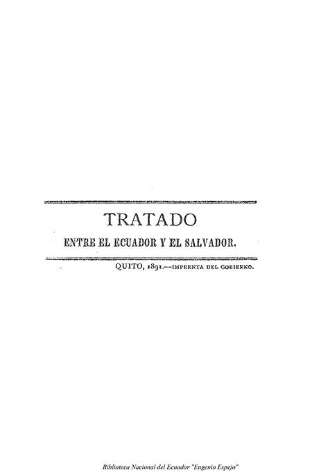 Tratado entre el Ecuador y el Salvador