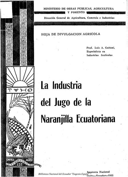 La industria del jugo de la naranjilla ecuatoriana