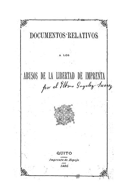 Documentos relativos a los abusos de la libertad de imprenta