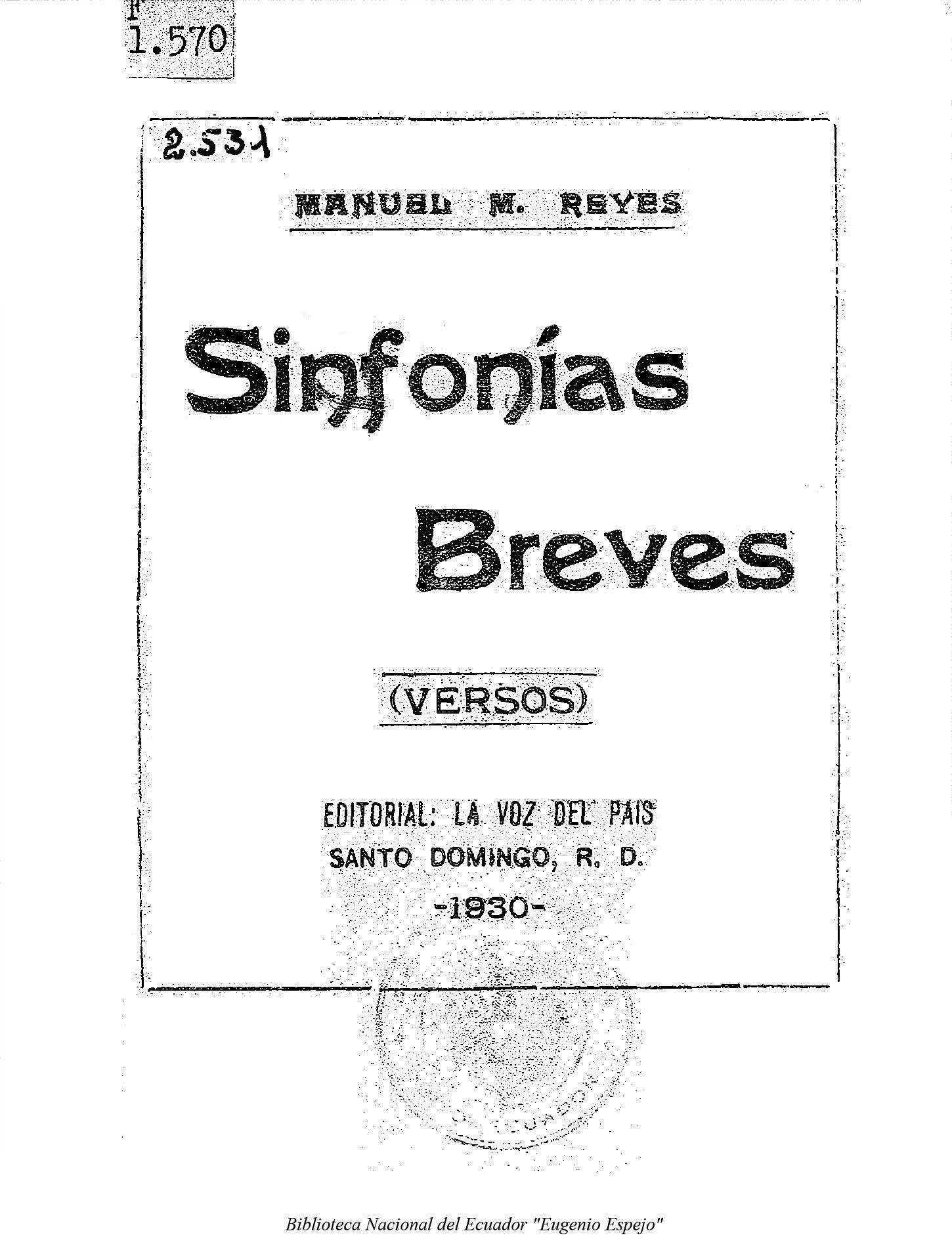 Sinfonías Breves