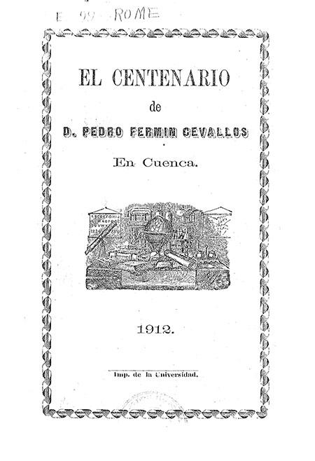 El centenario de D. Pedro Fermín Cevallos en Cuenca
