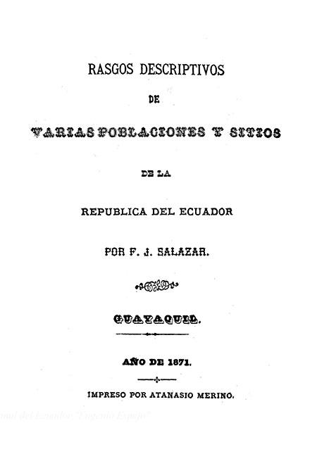 Rasgos descriptivos de varias poblaciones y sitios de la República del Ecuador