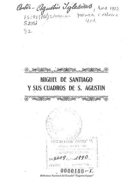 Miguel de Santiago y sus cuadros de S. Agustín