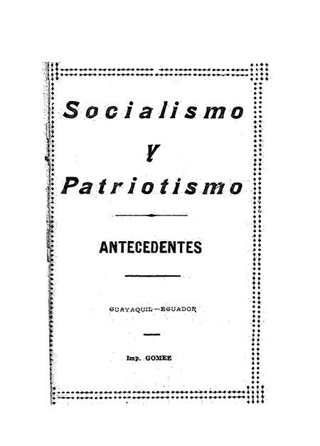Socialismo y Patriotismo antecedentes