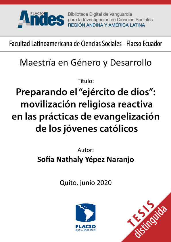 """Preparando el """"ejército de dios"""": movilización religiosa reactiva en las prácticas de evangelización de los jóvenes católicos"""