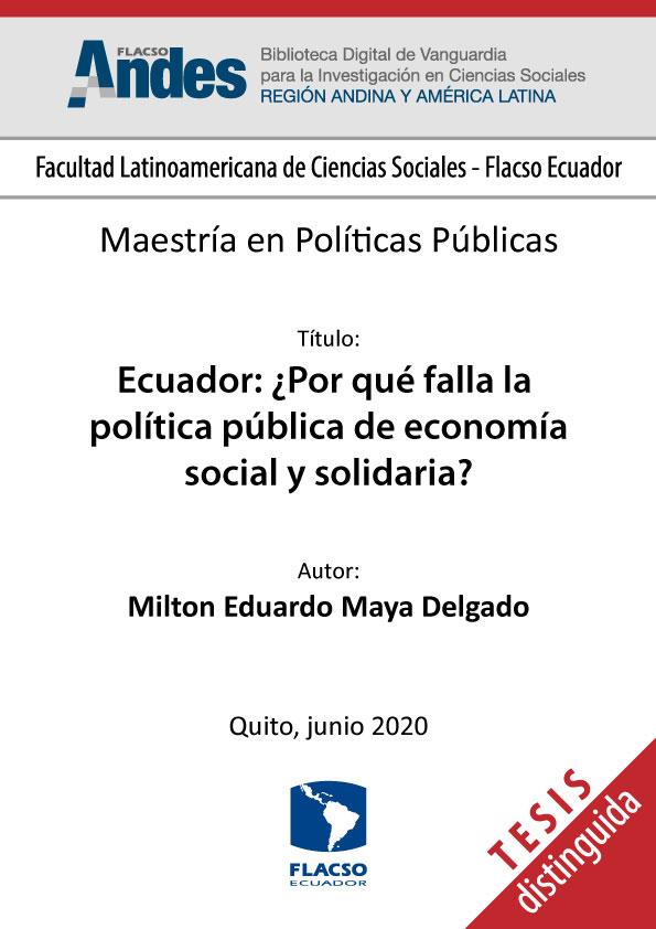 Ecuador: ¿Por qué falla la política pública de economía social y solidaria?