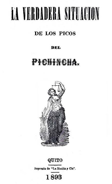 La verdadera situación de los picos del Pichincha