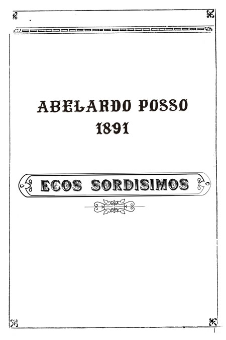 Ecos sordísimos [Folleto].