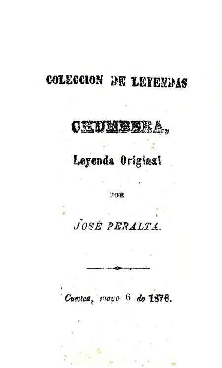 Chumbera, leyenda original [Folleto].