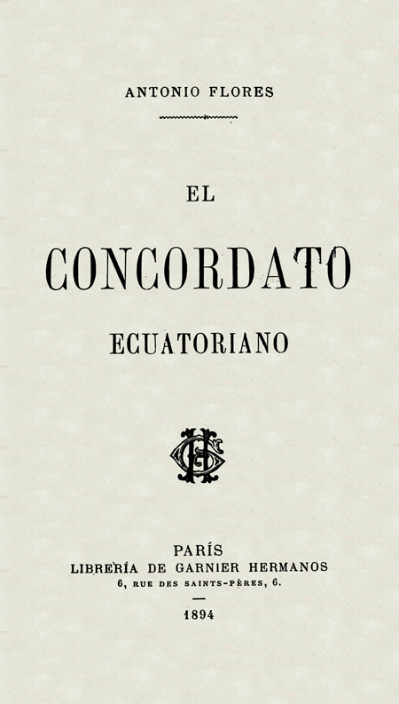 El Concordato ecuatoriano.