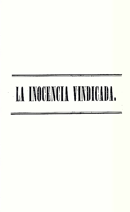 La inocencia vindicada [Folleto].