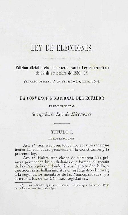 Ley de Elecciones (Folleto).