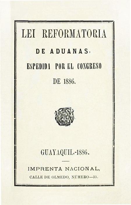Lei reformatoria de aduanas (Folleto).