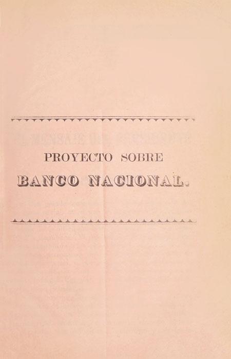 Proyecto sobre Banco Nacional (Folleto).