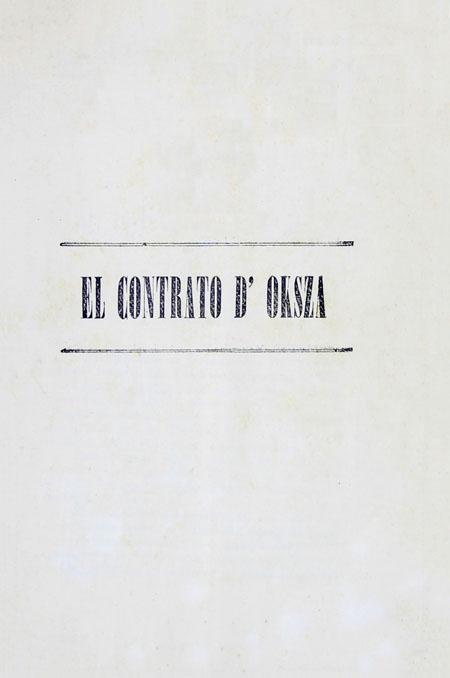 El contrato D'Oksza.