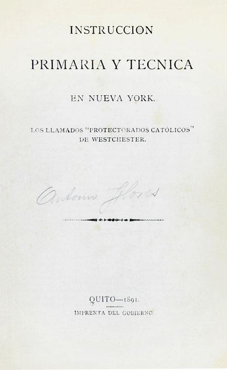 Instrucción primaria y técnica en Nueva York. Los llamados