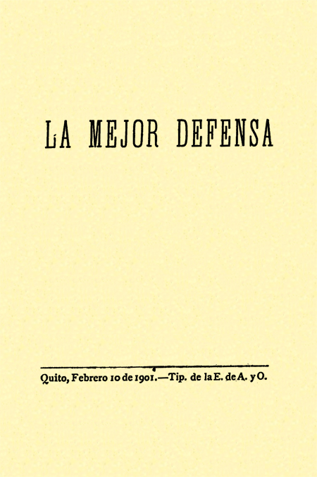 La mejor defensa (Folleto).