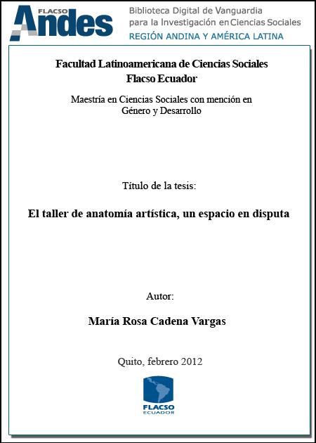 Repositorio Digital FLACSO Ecuador: El taller de anatomía artística ...