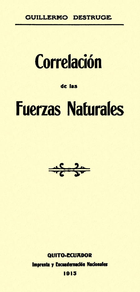Correlación de las fuerzas naturales.