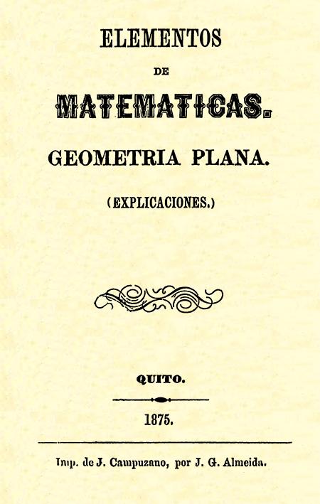 Elementos de matemáticas : geometría plana (explicaciones).