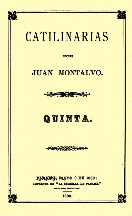 Catilinarias. Quinta (Folleto).