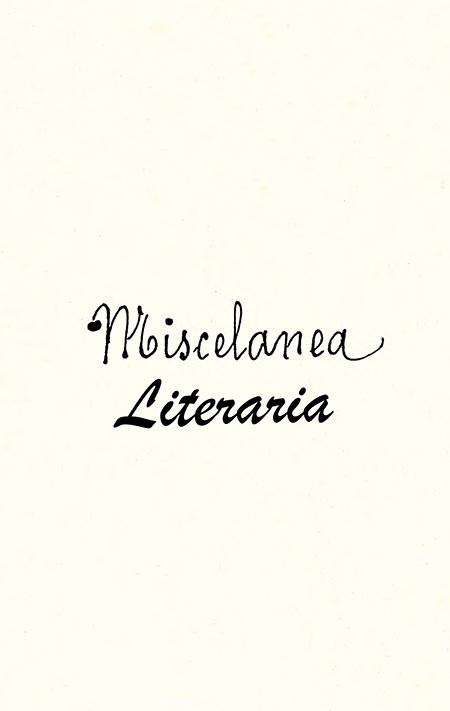 Miscelánea Literaria