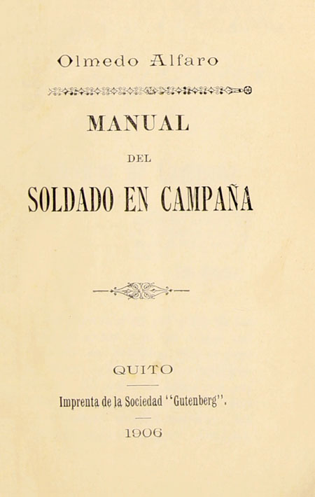 Manual del soldado en campaña.