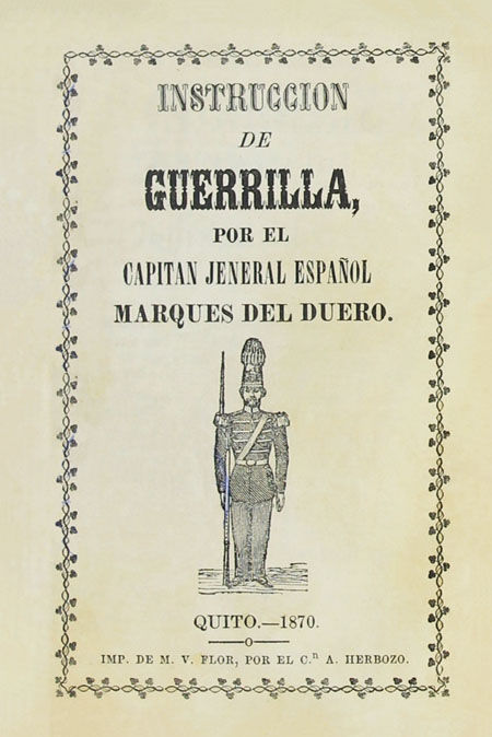 Instruccion de guerrilla ( Folleto).