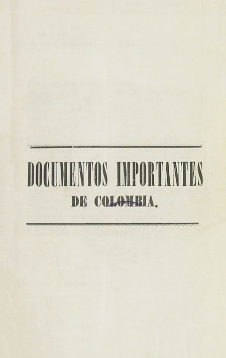 Documentos importantes de Colombia ( Folleto).