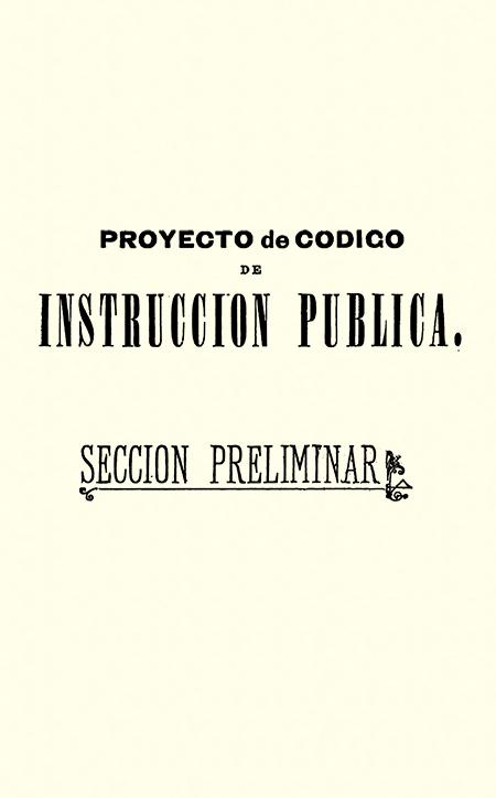 Proyecto de código de instrucción pública.