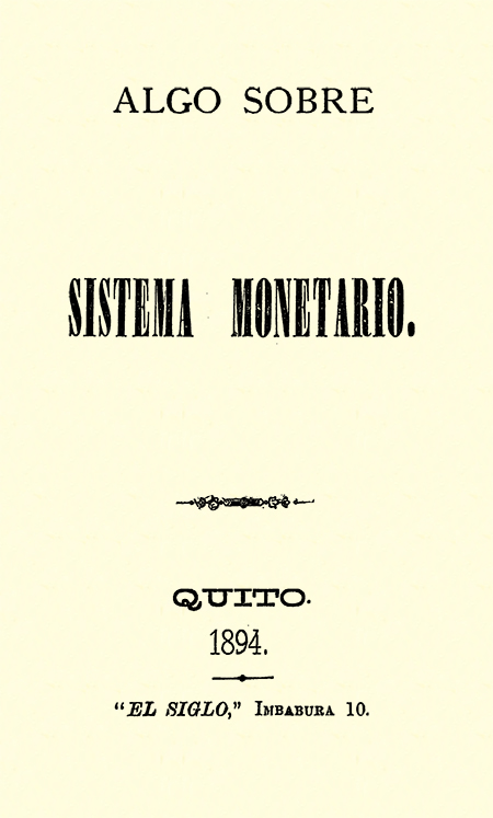Algo sobre Sistema Monetario (Folleto).