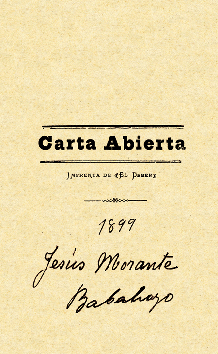 Carta abierta (Folleto).
