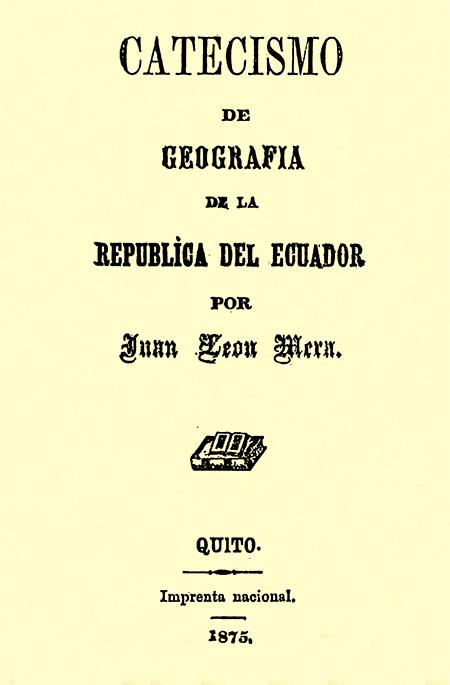 Catecismo de Geografía de la República del Ecuador.